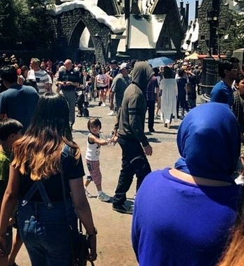 I Spy Shah Rukh Khan trying to go incognito and AbRam Khan posing like a pro. See pics  Shah Rukh Khan and AbRam Khan were spotted at Universal Studios in LA.