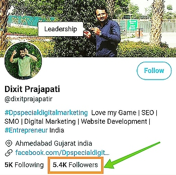 "#Dpspecialdigitalmarketing  5,000 Followers on Twitter account!!! ""Passion is Everything."" ""Trying to learn more & more.""  Thanks a lot, everyone...Please be connected https://bit.ly/2t3G188 #followers"