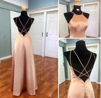 satin silk backless jumpsuit. #ffdesignerhunt #fashionstudent #fashionfable2 #roposodesignbox