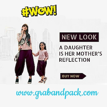 Ladies now dress up your kids with the same outfit as yours. Yes THE MUMMY BACCHA CONCEPT in khadi. Twinning with your little one is definitely a trend which is getting more and more popular. Buy mother daughter matching dresses 👇👇👇👇👇👇👇👇👇👇 💻Visit Now : www.grabandpack.com 🇮🇳 Free shipping only in India 📞Contact us/whats app us on : +91 9898133588 ,+91 7990485004 📲For Our Daily Updates Ping us on Whatsapp +91 9898133588 👍Like us on Facebook : https://www.facebook.com/grabandpack/ #momdaughter #kurti #westernwear #twinning #khadi #mesmora #motherdaughter #mummybachcha #wow