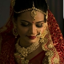 Taru totally slayed the smokey eye for her wedding look!!!  #bride #bridesofindia #indianbride #weddinglook #makeup #bridalmakeup #smokeyeye #wingedliner #falselashes #macmakeup #esteelauder #traditional #marwaribride #redlips #macmakeup #lovewhatido #bridalmakeupartist #indianjewelry #makeupartist #mua #morphebrushes #sigmabeauty #highlights #contour #chennaimua #paletteaffaire