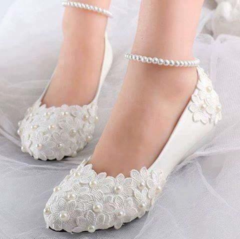 beautiful  white footwear
