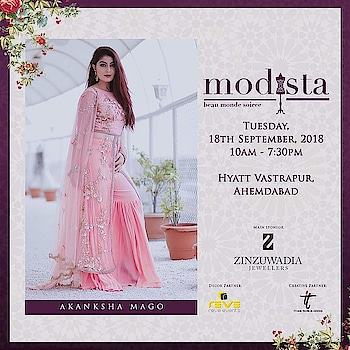 Contemporary ensembles exuding elegance and poise by Akanksha Mago At #Modista  18th September, 2018 Hyatt Vastrapur,  Ahmedabad.  #akankshamago #glamorous #chic #festive #pastels #jeweltones #festivewear #shopping #celebrityfashion #celebritystyle #indianfashion #blogger #bloggerfashion #likeforlike #likeforfollow #likeforlikes #likeforfollowback #jewellery #fashion #shopthelook #modistadxb #lifestyle #exhibition #dubai #mumbai #ahmedabad #kanpur