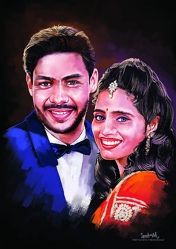 love series  Digital portrait painting of a #Coupleportrait by #spruhaarts , Gift uniquely created masterpiece paintings to your friends, family and that someone special 🎁 #digitalportrait #painting #masterpiece #gifttohusbund #valentinesgift #newwayofgifting #perfectgift #foreveryoccasion #colours #shades #brushstrokes #technologymeetsart #canvaspainting #spruhaarts #rupeshnarvekar