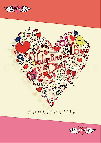 though late upload for valentine's Day..... give love get love #doodlelove #heart #vday #illustrator #artlove #love #love