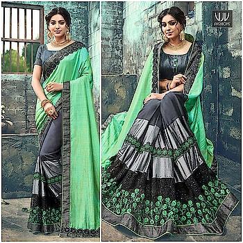 Buy Now @ https://goo.gl/Jv5j9Q  Modest Green And Grey Designer Half N Half Saree  Fabric- Georgette  Product No 👉 VJV-ROYK30265  @ www.vjvfashions.com  #saree #sarees #indianwear #indianwedding #fashion #fashions #trends #cultures #india #instagood #weddingwear #designer #ethnics #clothes #glamorous #indian #beautifulsaree #beautiful #lehengasaree #lehenga #indiansaree #vjvfashions #pretty #celebrity #bridal #sari #style #stylish #bollywood #vjvfashions