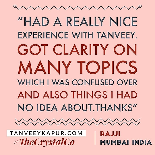 Beautiful Mondays Be Like 🙌👼 We love hearing from our clients 🙏 Another client testimonial from#mumbai CLARITY propels us towards making decisions that are for our highest good and towards the direction of our heart's desires  Dispelling CONFUSION is like removing road blocks that are very easy to sweep away from our own path New INFORMATION via Guidance Through Tarot Readings is like some fairy dust along the way ; signs from the universe to re assure you are on the right path CRYSTALS help us align with our chosen path by keeping our spirit and vibe joyful & stress free so we are able to recognise opportunities when they flow into our life in universal harmony
