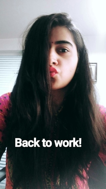#office#work#hairstyles#ethnic#bindilove#bangalore#lipstickaddict#roposo#backtodgrind!