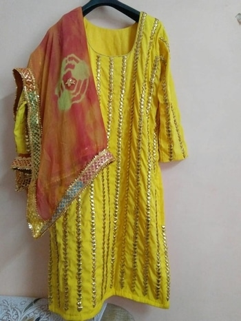 Haldi dress  Whatsapp @7042048350 for details nd orders  #haldi #haldiceremony #wedding-bride #wedding-outfits #bridalhaldi #maiyya #maiyya #ubtan #weddingseason #weddingshopping #gotapattiwork #stylishwear #gotajewellery #weddings #indiandress #yellowsuit  #ethnicwear
