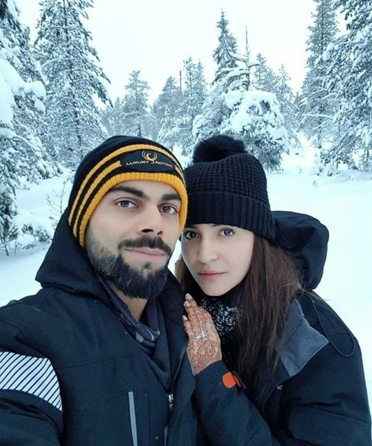 honeymoon pic of Mr& Mrs Kohli