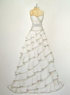 #dress #designerstuff #white #weddding #dress #fashion #designer #illustration #sketchinglove
