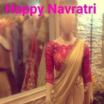 Time for celebration is on with Navratri.May this auspicious occasion bring you an abundance of happiness, love,peace and prosperity to all our beloved customers, friends and family. To make this Navratri special we are glad to introduce our new range of autumn winter collection like sarees, long anarkalis, kurtis, cholis etc designed specially for the coming festive season.Please walk in to our studio and get 15%off on every purchases and make this coming festive season more graceful by wearing our exclusive designs.                           Wishing each of you a blessed Navratri .stay happy!      Regards 'Regalia team' #navratri #celebrations #festival #chantillynet #crocia #Laces #golden #gorgette #fashion #style #embellishment #stones #crystal #potlis #handmade #regaliabydeepika@gmail.com #new collection #autumn winter