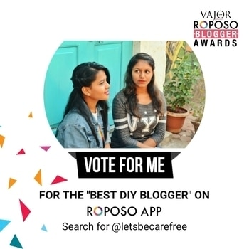 Hello Everyone! We are participating in the vajor roposo blogger awards for Best Diy Blog and all you have to do is  click on VOTE NOW option on our account ! Thanks you in advace! 😘Keep supporting x  #bloggerawards #diyblogger #diy #bestdiyblogger #roposo #roposobloggerawards  #blog #blogger #india #indian #indianblogger #lifestyleblog #lifestyleblogger #fashionista #mumbai #mumbaiblog #mumbaiblogger #travel #travelblog #travelblogger #f4f #like4like #follow4follow #like4follow #vote #voteforus
