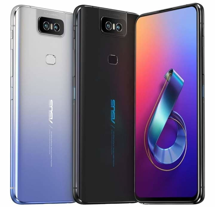 New King in Flagship ASUS Zenfone 6 with 6.46-inch FHD+ display, Snapdragon 855, 48MP + 13MP Flip Camera, 5000mAh battery announced  Specs:  - 6.46-inch ( pixels) Full HD+ NanoEdge IPS LCD 19.5:9 aspect ratio screen with 600 nits brightness, HDR10, Corning Gorilla Glass 6 protection  - Octa-Core Snapdragon 855 7nm Mobile Platform (1 x 2.84GHz Kryo 485 + 3 x 2.42GHz Kryo 485 + 4x 1.80GHz Kryo 485) with Adreno 640 GPU  - 6GB LPDDR4X RAM with 64GB (UFS 2.1) storage, 8GB LPDDR4X RAM with  128GB / 256GB (UFS 2.1) storage, expandable memory up to 1TB with microSD  - Android 9.0 (Pie) with ZenUI 6  - Dual SIM (nano + nano + microSD)  - 48MP flip camera with Dual LED Flash, f/1.79 aperture, 1/2″ Sony IMX586 sensor, 0.8μm pixel size, Laser AF, EIS, 13MP secondary camera with 125-degree ultra-wide lens, f/2.4 aperture  - Fingerprint sensor  5000mAh, flip Camera still 190 Grams (Y)  3.5mm audio jack  FM radio  5-magnet stereo speaker, Dual NXP TFA9874 smartamp, dual microphones  Dual 4G VoLTE, WiFi 802.11 ac (2.4GHz + 5GHz), Bluetooth 5, GPS + GLONASS USB Type-C  5000mAh battery  QuickCharge 4.0 fast charger within box  The ASUS Zenfone 6 comes in Midnight Black and Twilight Silver colors as you know ASUS set very low price for India  so it is expected at 6GB/64GB - 28000 Rs/ $399 US / 34000 Taka  6GB/128GB - 30000 Rs/ $430 US / 36000 Taka 8GB/256GB - 34000 Rs / $490 US / 41000 Taka