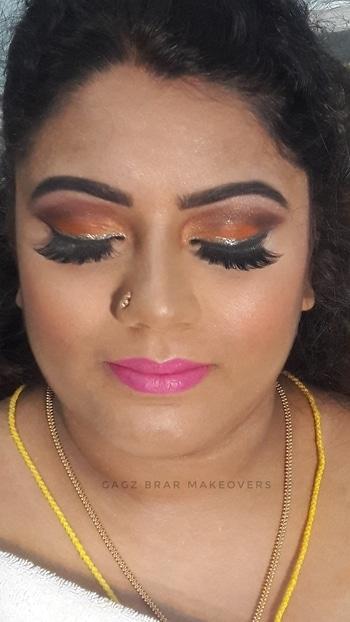 Those eyes 😍  #Mua - Gagz Brar 9888050866, 7087555656 #eyemakeups #eyelashes #eyes #eyemakeup #bride #perfect #blending #pink #lips #think #eyebrows #contouring #highlighting #flawless #look #makeupartist #hairstylist #GagzBrar #gagzbrarmakeovers