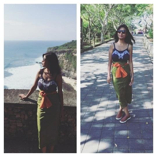 Rocking a sarong with Sneaker. 💁❤️  #sarong #sneakers #shoeporn #travel #bali #soulfulsafarnama #travellove #balidiaries #be-fashinable #temple #soroposolove #ootdroposo #travelbug #travelblogger