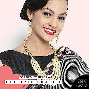Make this Valentine's Day super special for your pretty woman by gifting her this beautiful pearl necklace set.   Don't want to spend too much?   Shop at Zero Kaata and get upto 80% off +20% Welcome Code discount.   Shop here: https://goo.gl/o5MvYP  #jewelryblogger #jewelryporn #jewelryshop #jewelrylovers #jewelrymaker #jewelrybox #jewelrystore #jewelryart #jewelrylove #jewelryblog #jewelrysale  #fashion #fashionblogger #fashionista #fashionable #fashionstyle  #fashionstylist #fashiongirl #fashionjewelry #fashiondesign #discount #giveaway