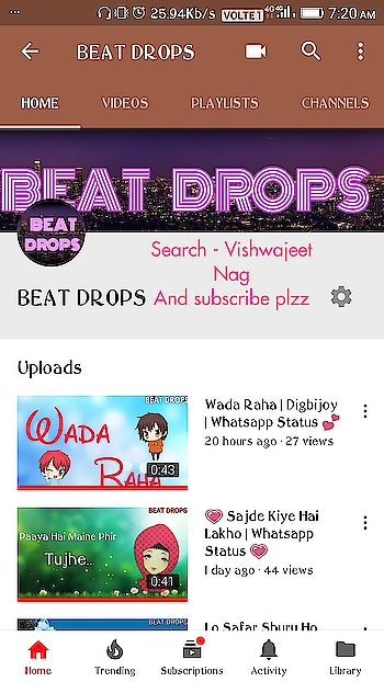 Plzz subscribe my channel all my roposo followers 😊