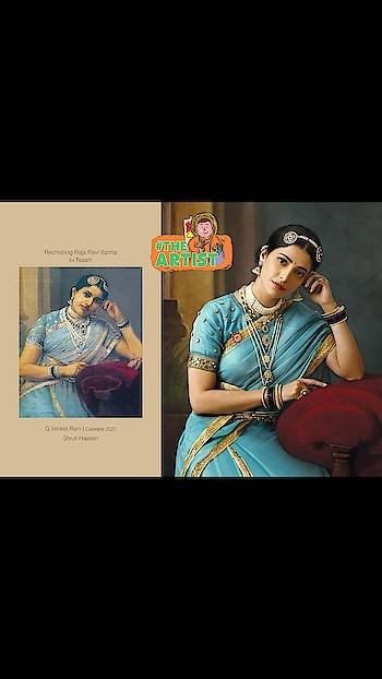 #roposocreativespace Renowned #photographers_of_india  G Venket Ram's Calendar #2020  for Naam - Recreating Raja Ravi Varma paintings... with #southindianactress.!