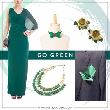 #Green is Pantone's colour of the year & Mango Closet's got you covered!  Visit www.mangocloset.com  #dress #dresses #fashionlover #fashionfreak #designer #designerdress #designerdiaries #green #greenlove #bow #bowforever #clutch clutches #designerclutches #footwear #designerfootwear #necklace #necklaceset #party #partywear #accessorize #womenaccessories #menaccessories #mangocloset #earrings #earringsoftheday #designerearrings