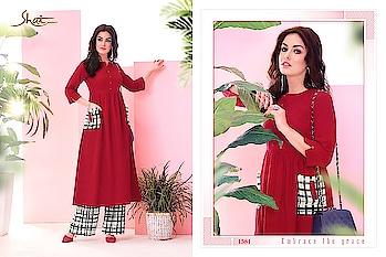 #kurti #kurtys #light-kurti #longkurti #fancykurtis #kurtiwithplazoo #newcollection #newcollection2018 #shopping #shoppersstop #new-style #kurtifashion #ladies garments #ladieswear #ethnic-wear #girls #girlsfashion #swag #swagger #bestcollection #palazzo