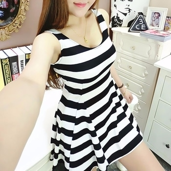 #blacknwhite#shortdress#prettylook