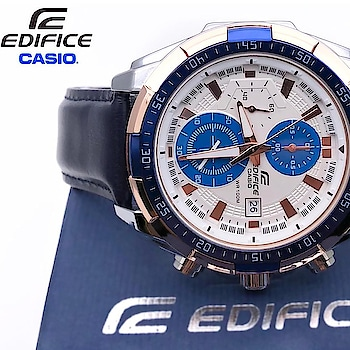 #Edifice  #Casio * EFR-539L * For men * 7A * Original model * Feature; -Day indicator -chronograph working -12 hrs dial -swiss movement -Genuine Blue leather strap -Japanese machinery -Original quality  Dm or whtspp to place an order  #casiowatch #casioedifice #edificewatch #casioedificewatch #casioedificewatches #watchesofinstagram #watches #watches⌚ #watchesformen #watchtime #watchporn #Ahmedabad #Gujarat #india #like #follow @irshuscollection