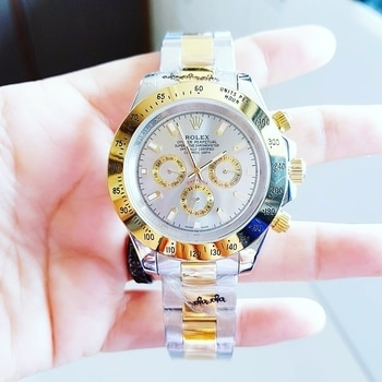 # Rolex 😃 # For Men # 7a # *Model:- Daytona* # Working Time , Date nd Day , Grey Colour Dial , To Tone Metalchain , Solid Steel Back , Sapphire Glass , *Fully Automatic Machinery* , Extraordinary Watch   To order, whatsapp +918000369626  Price :- 2499/- including ship All over india  CODE - mdn  #instalike #instagram #instashopping #ahmedabad #mumbai #pune #surat #kolkata #delhi #chennai #chandigarh #jaipur #hyderabad #ranchi #ludhiana #agra #jammukashmir #himachal #india #shoppinglovers #onlineshopping #reseller #customised #tshirt #brands #rado #tagheuer #beinghuman #uspolo #emporioarmani  Few important things to note 👉🏻 Order once booked will not get cancelled. 👉🏻 Please give 2-3 days of time to process the courier 👉🏻 Please send payment Screenshot once payment done 👉🏻 Courier will only be done post payment of the product 👉🏻 Please don't bargain🙏🏻🙏🏻 #watches