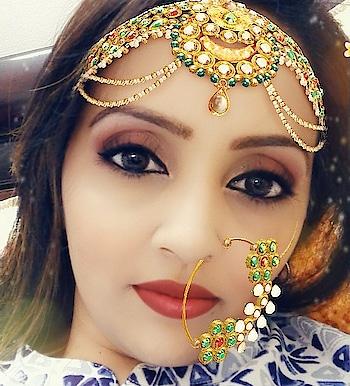 The jewled up look #happydiwali    #snapchat #jewellerylove #bridal-makeup #makeupblogger #festive makeup