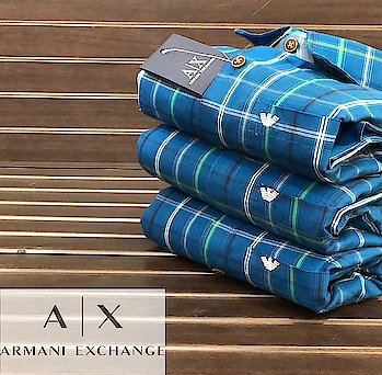 #Armani Exchange  #Check shirts #Regular Fit  #Sizes M L Xl XXL #Full Stock Available  # WhatsApp- 9837007752 resellers are most welcome