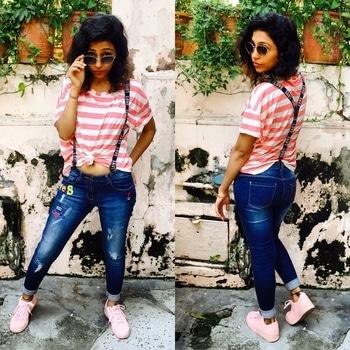 #streetstyle #roposogirl #soroposo #suspenders #strips #messyhair #love