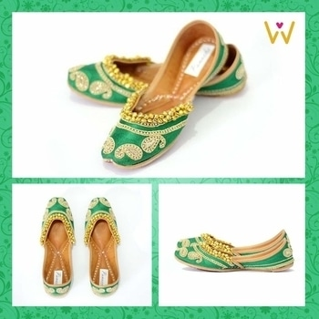 Dance all night at your brother's sangeet in these trendy & comfy jutti by WedLista.com!  SHOP NOW: http://bit.ly/WL_Juttis  #WedLista #FashionForWeddings