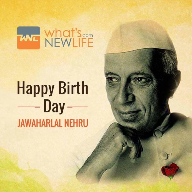 What's New Life wishes the first Prime Minister of India Jawaharlal Nehru on his birthday anniversary.  #JawaharlalNehru #Birthday #Celebration #Wishes #WNL #WhatsNewLife