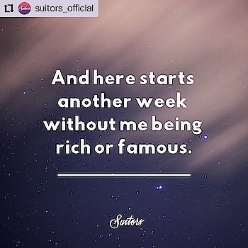 #Repost @suitors_official • • • • • •  Just Another Week! ✨  . . . . . #theredbox #crazysexycool #spiceitup #magic #mondayblue #weekday #wordporn #instamonday #instadaily #words #wordoftheday #qotd #quotestoliveby #quotes #mondayquotes #mondayvibes #rich  #famous #instaquote #igpost #week #thegoodquote #quoted #instawords #postoftheday #trending #trendingnow #magicmonday