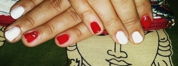 #nails #nail-addict #nailart #nailartwow #happyclient #red #white #simplelook