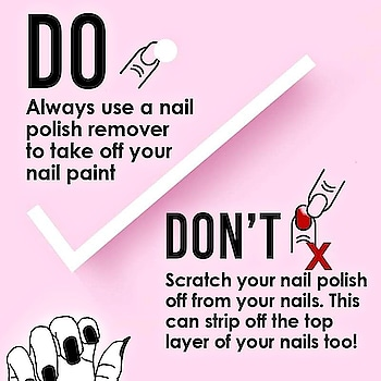 💅Are you committing this mistake? Always use a nail polish remover to avoid any damage to your nails.💅 #nailsperfect #hairexpert  #beauty  #nail-addict   #beautycare #nailcares