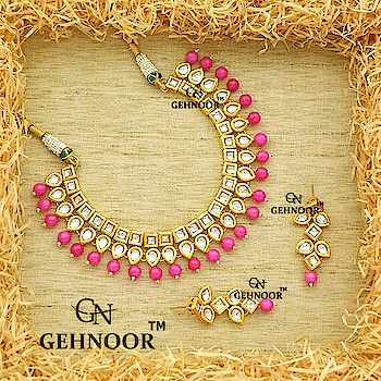 Pink Gorgeousness at its very best! 💞 . Stunner Kundan and Pink Pearl Studded Necklace that defines Perfection! 💗💗 . These are a definite must have in your Jewellery Collection and can be customized in any color of your choice 💖 . www.gehnoor.com 💻 . FREE SHIPPING anywhere in India 🚙 . Cash On Delivery Available across India 💲 . WhatsApp at 07290853733 📱 . www.facebook.com/Gehnoor/ . gehnoor@gmail.com 📝 . #bride #goldjewellery #kundannecklace #traditionaljewellery #indianbride #photooftheday #instabride #bridalwear #bridaljewellery #tags #like #likeforlike #followfollow #followus #followback #gehnoor #earrings #chandbali #kundan #everydayphenomenal #wedmegood #fashionblogger #indianfashionblogger #pink #ColourMeGehnoor