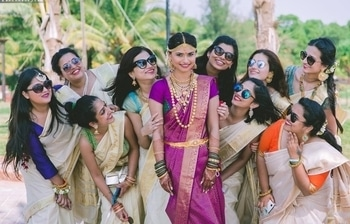 Even her bridesmaids can't get enough of her!!!  Shop for such fascinating bridal & bridesmaids silk sarees from WedLista.com.  Shot by: @pixelstory.in  #WedLista #FashionForWeddings --- #beautiful #bride #indianbride #bridetobe #bridal #bridallook #bridalwear #desibride #instabride #instalove #instapic #instawedding #indianweddings #desiwedding #shaadi #asianbride #makeup #bridalmakeup #Bridesmaids #bridaljewellery #OnlineShopping #OutfitShopping #WeddingOnline #glamorous #asianwedding #realwedding