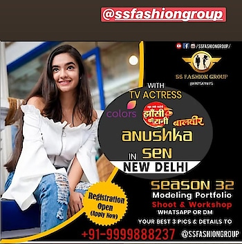 Hello Everyone! I'm coming to your city New Delhi in@ssfashiongroupfor exclusive magazine photoshoot. With my all#fansApply now and get yourself registered for the photoshoot. Hurry up! _________________________ *For Applying*, Send your three best pictures along with your NAME AGE HEIGHT CITY CONTACT _________________________ *Whatsapp On* *+91- 9999888237* or DM -@ssfashiongroup And get selected for the photoshoot and Meet&Greet with me. _________________________ #All_the_best_guys Follow @ssfashiongroup #Director👉@theshivasharma ________________________#ssfashiongroup#theshivasharma#ssfashiongroupvilla#ssfashiongroupindore#newdelhi#event#anushkians#photoshoot