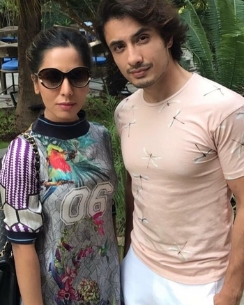 Look who we have here! Designer and restauranteur, #SobiaNazir with our own Rock-star, #AliZafar! 😍🔥😎