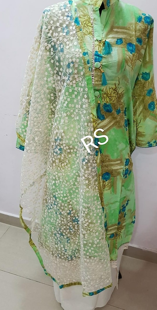 """*RS130118* Fabric: Top👕 Pure cotton semi stitched,  Chest size Up to 44-46"""" approx  Length 45"""" approx Bottom👖 Pure khadi Cottan  Duptta🎗Fully net jaal embroidery    Rate:  https://wa.me/917525099013 (Resellers most welcome )  Ready stocks   Free Shipping n cash on delivery available in INDIA*   #latestwizecollections #latestfashion #NewArrivals #indianfashionblogger #onlineshopping #onlineboutique #bestbuys #worldwideshipping"""