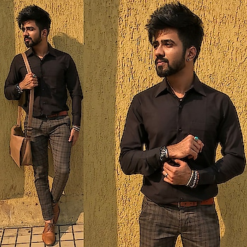 men in black.♠️     . #fashionlover #stylish #fashionweek #like4tags #followforfollow #fashionblogger #igers #styleblog #like4follow #blacklover #outfit #beardedmen #instagood #followback #fashionpost #fashionphotography #prilaga #fashionshow #indianbloggers #moustache #instadaily