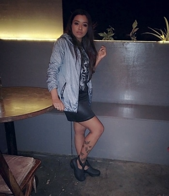 A picture as blurry as the night's memories. To friends and #drunkennights 😀 . Last night's #ootn . . . . . #PersonalStyleBlogger#fashionbloggerindia#bangaloreblogger#bangalorediaries#northeastblogger#asianblogger#brandinfluencer#leatherskirt #blurrypic #casualoutfit #ootnmagazine #moodygrams #streetstyleindia #streetweardaily #fashionnova #fabebg #instainfluencer#fashionoftheday#pictureoftheweek#roposoblogger #fashionblog #indianblogger #soroposo