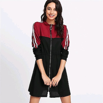 Fresh New Arrivals added to our uber cool collection! Buy this Colorblock Spring Stripe Contrast Sleeve Zip Front Dress at just ₹1563/- . | Cash on Delivery with Easy Returns & Exchanges || Up-to 100%* Money Back Guarantee! | Satisfaction Guaranteed | .  #trend-alert  #womensfashions  #partywear  #jumpsuit  #ootd  #trendy  #blouse  #vogue  #newarrivals  #dress  #photooftheday  #top  #fashion  #styles  #romper  #poshgrid  #india   #party  #girls  #women