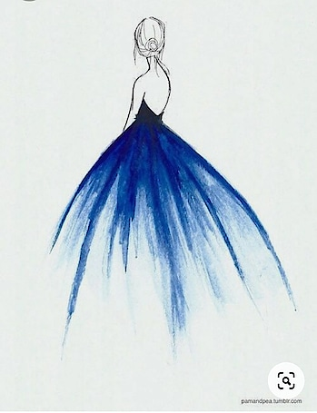 # blue gown