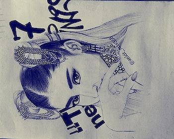 my drawing of Ariana Grande with blue pen. I hope you like my artwork. #art  #sketchbook #sketch #sketchings #drawing #draw #arianagrande #ariana #ankit_arts358 #justinbieber #selenagomez