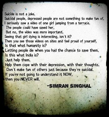 #RoposoTalentHunt  #Suicide #Depression