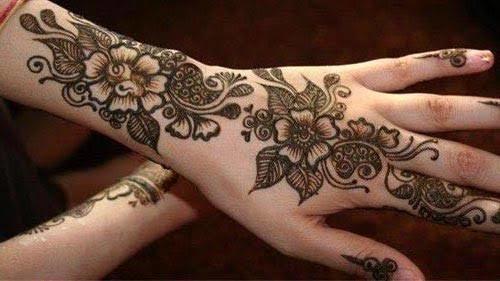 my always favorite design..#arabic mehndi design..#dark colour mehndi 😍