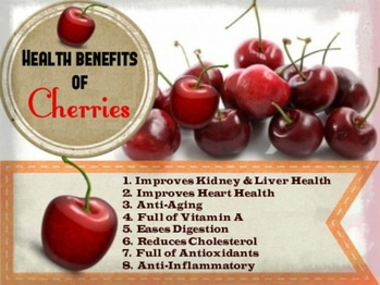 # Health  Tip😊😊😊 # Cherries  good  for  Health 😊😊😊