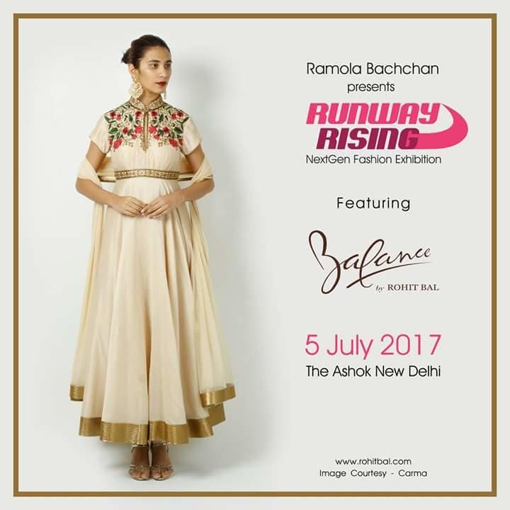 Runway Rising 5 July Ashok Hotel, Delhi  Steal the spotlight with this extraordinary outfit by Rohit Bal Do visit us as the ace couturier is ready to unveil his exuberant collection at #RunwayRising